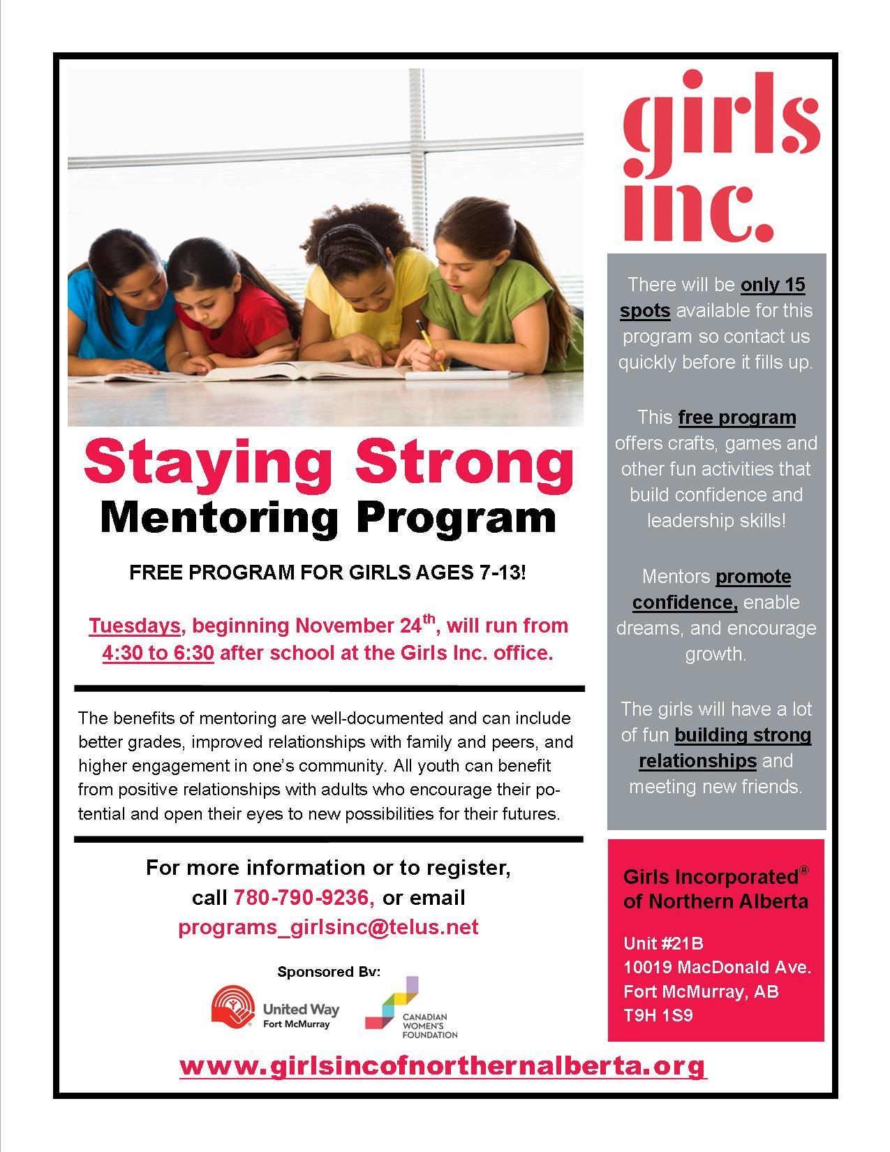 GIrls Inc. Staying Strong Mentoring Program 2015