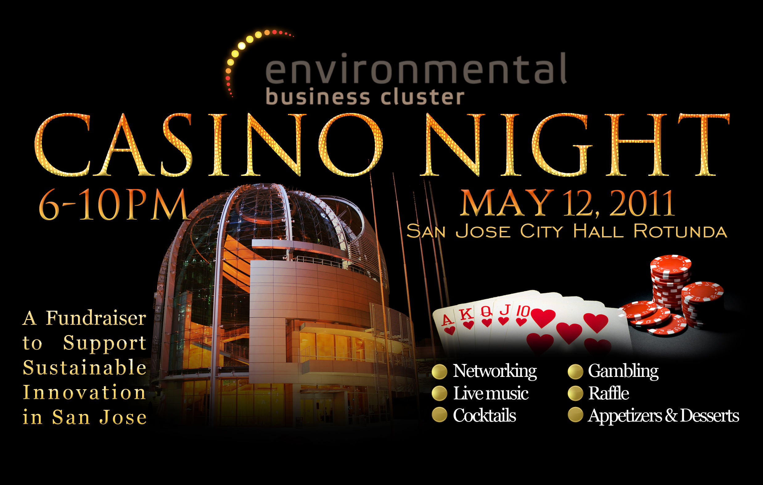 cleantech networking fundraiser Casino Night
