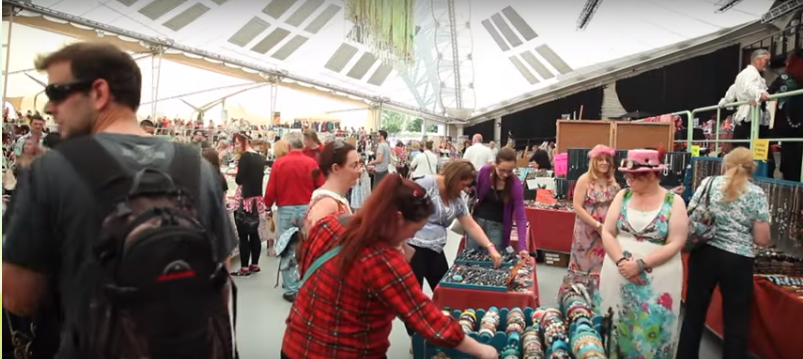 Busy Faery Market at The Legendary Llangollen Faery Festival