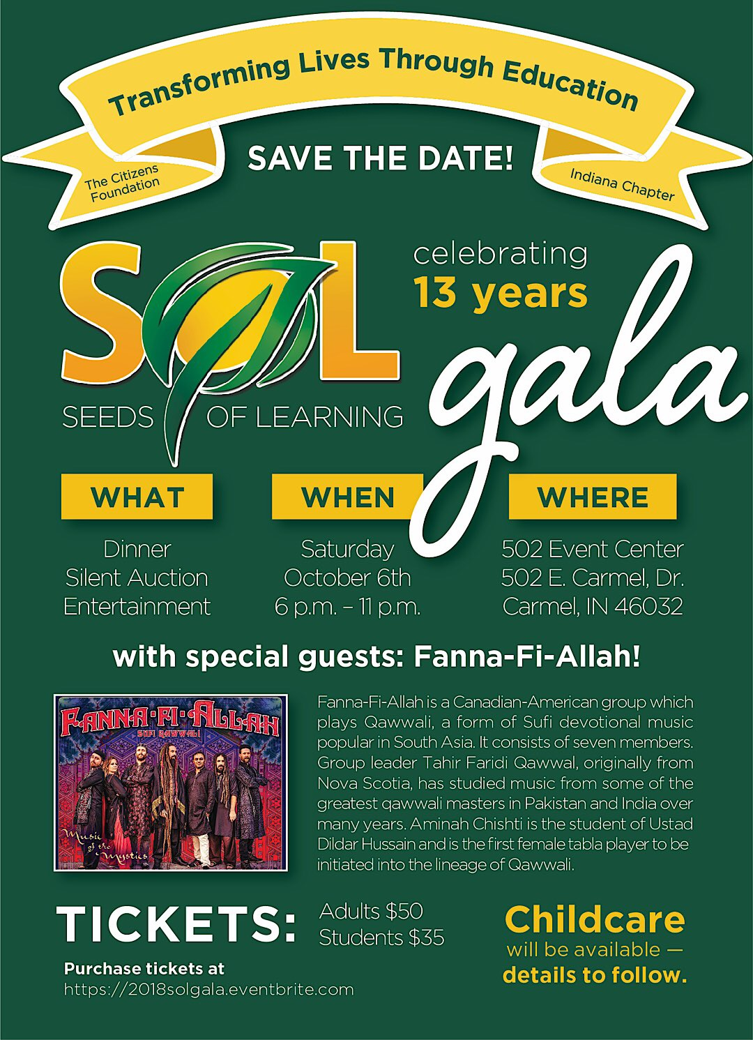 2018 Gala Save The Date