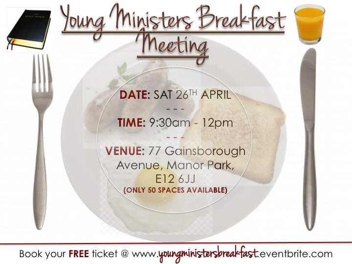 Young Ministers Breakfast Flyer