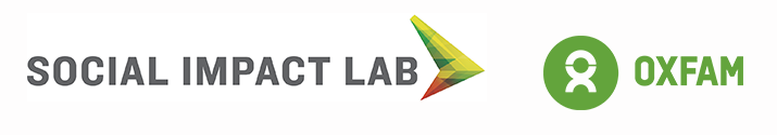 The Social Impact Lab and Oxfam Logo