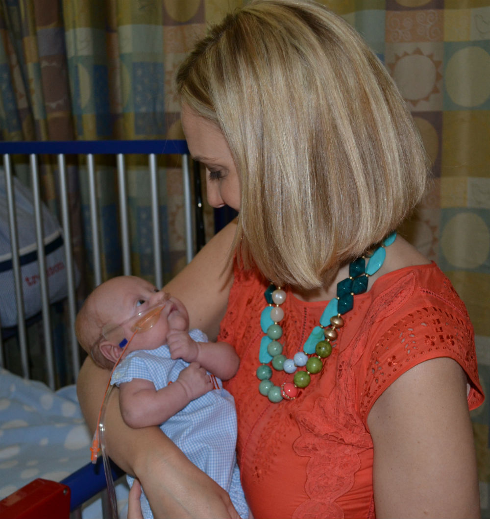Katie Talkington with baby Trenton