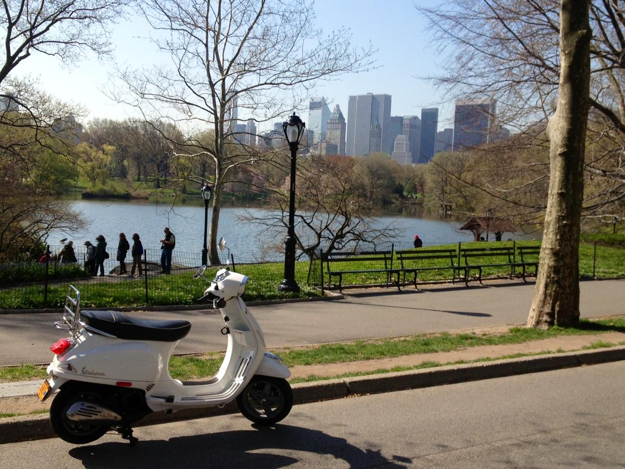 central park new york vespa tour