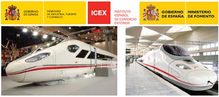 Government of Spain logos and Spanish HSR Trains