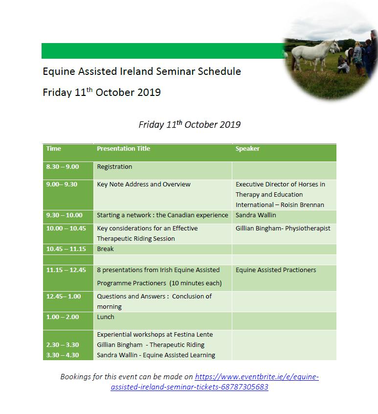Seminar schedule day 1