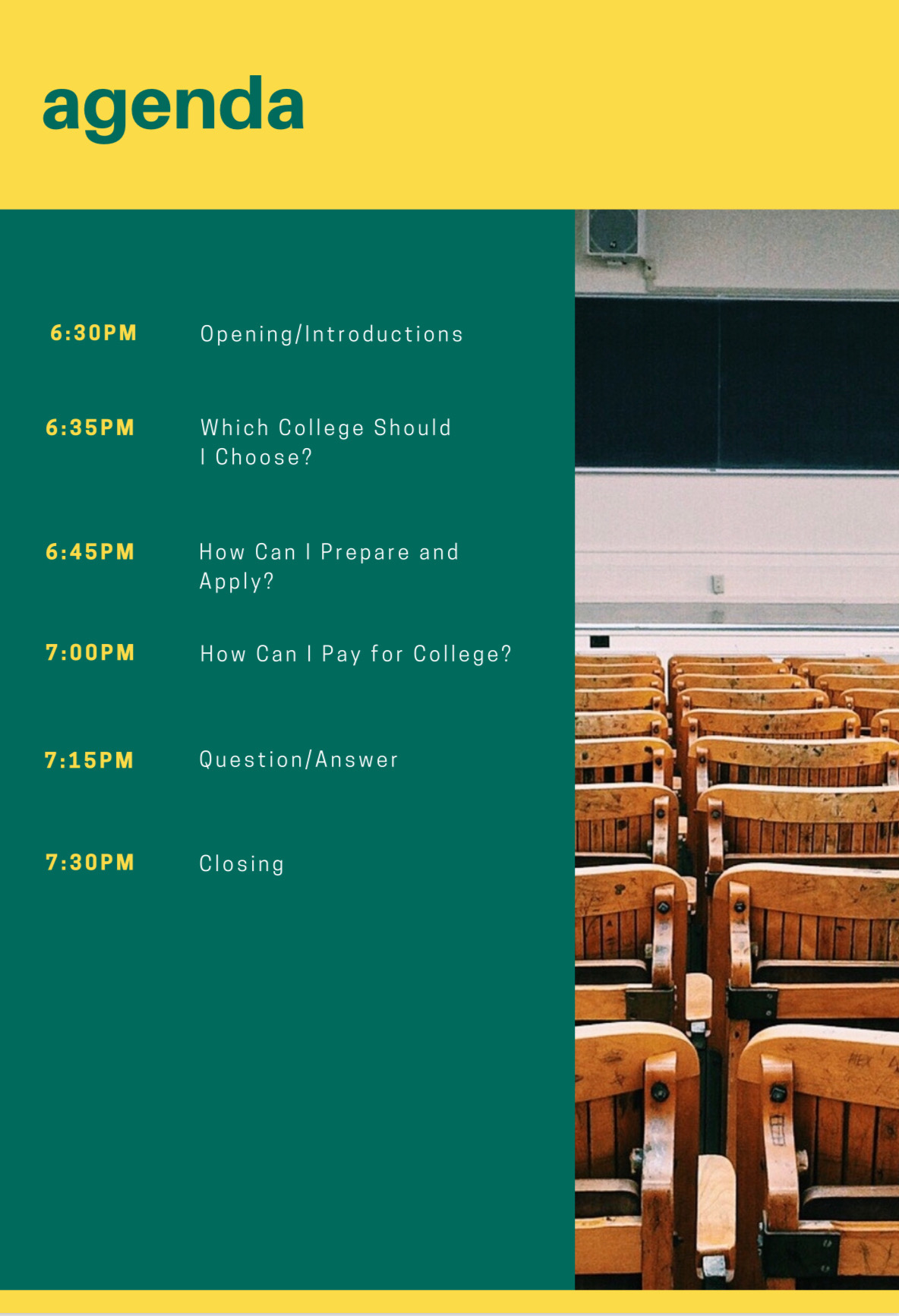 Agenda Are You Ready For College