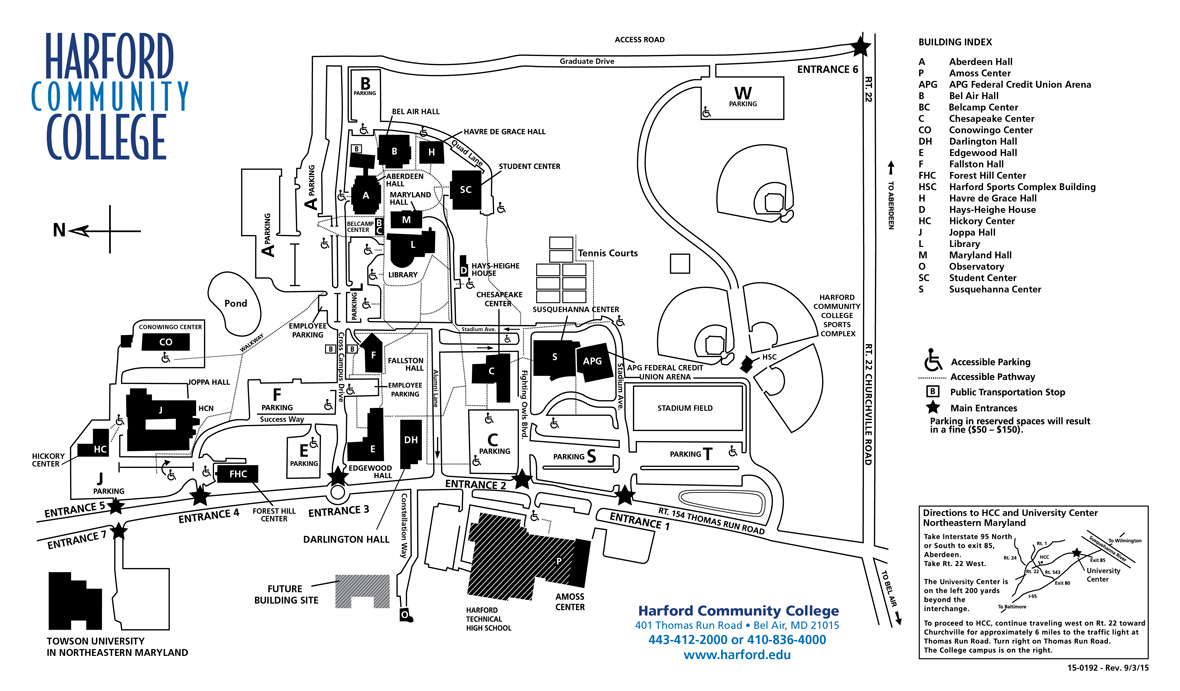 Harford Community College Campus Map