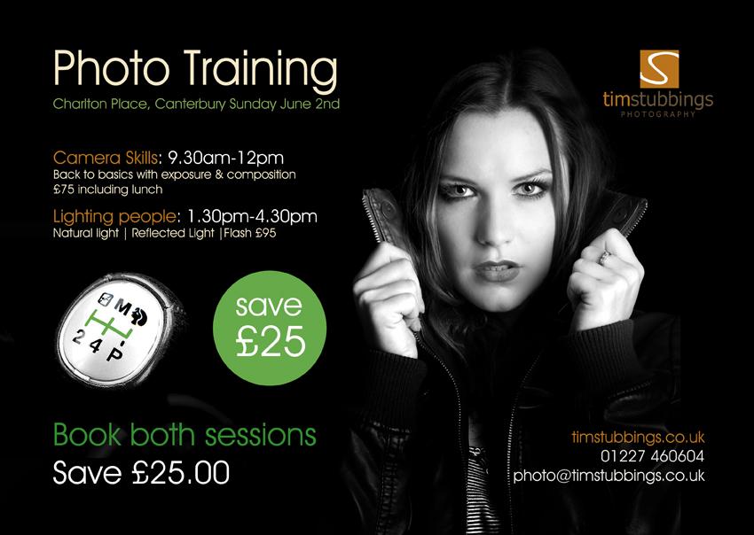 £25 saving on Camera Skills & Location Portrait Training Courses in Kent