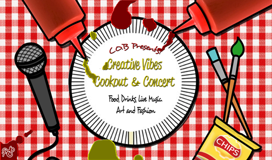 Creative Vibes Cookout & Concert Front