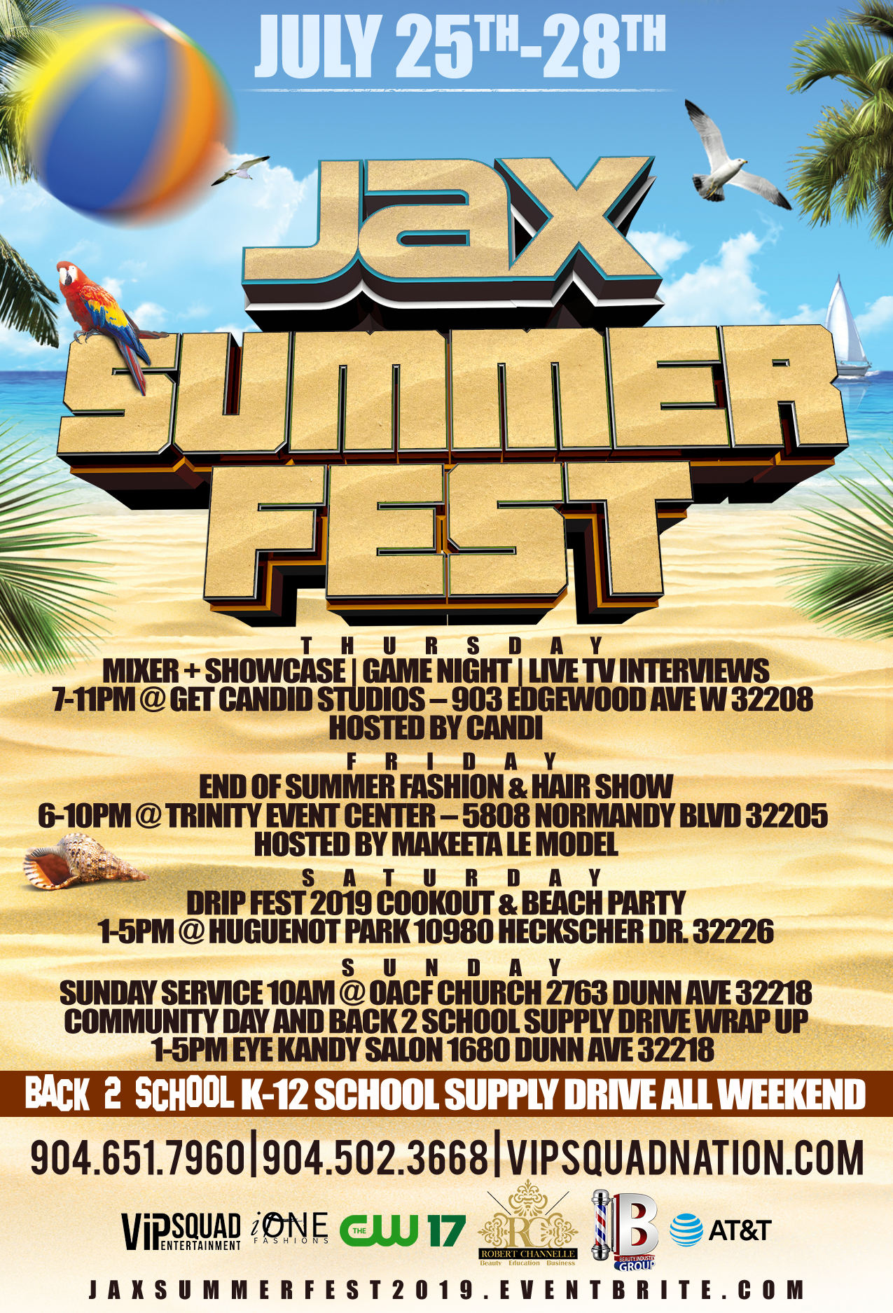 Jax Summer Music Community Fest 2019 Tickets Thu Jul 25 2019 At