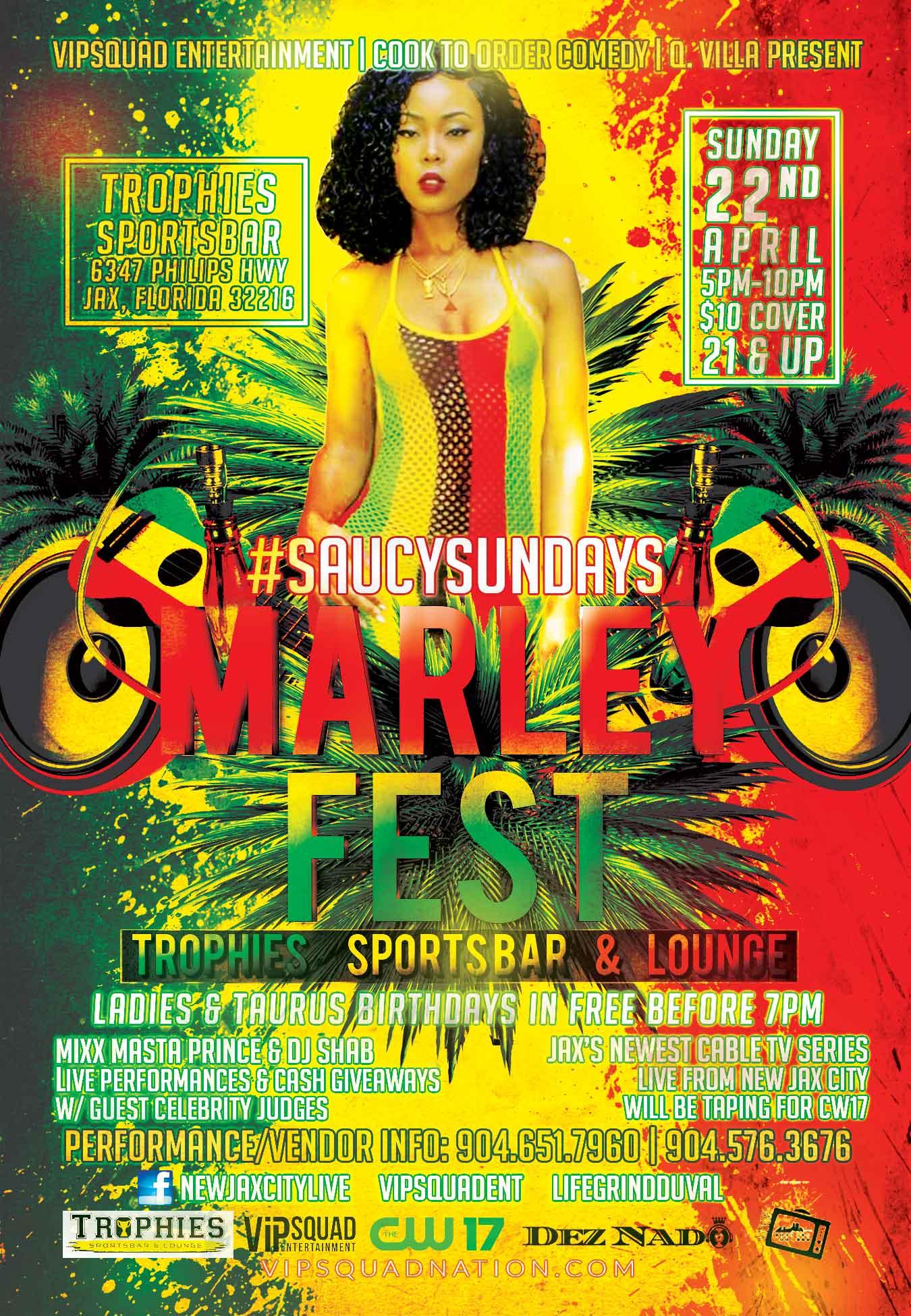MarleyFest2018 SaucySundays