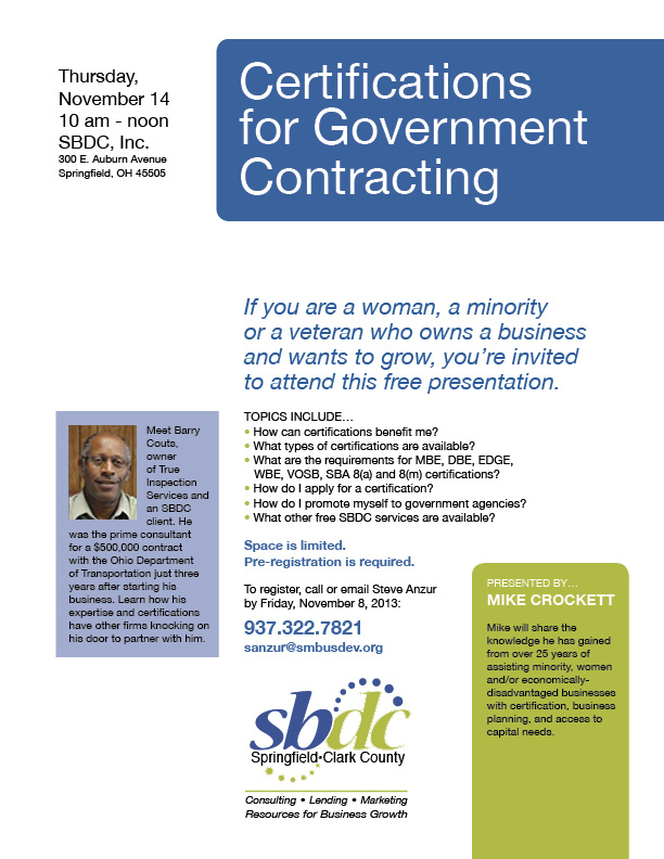 Government Certifications Flyer