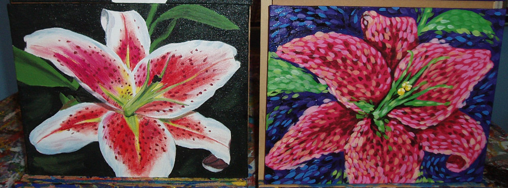 lily paintings simply jane