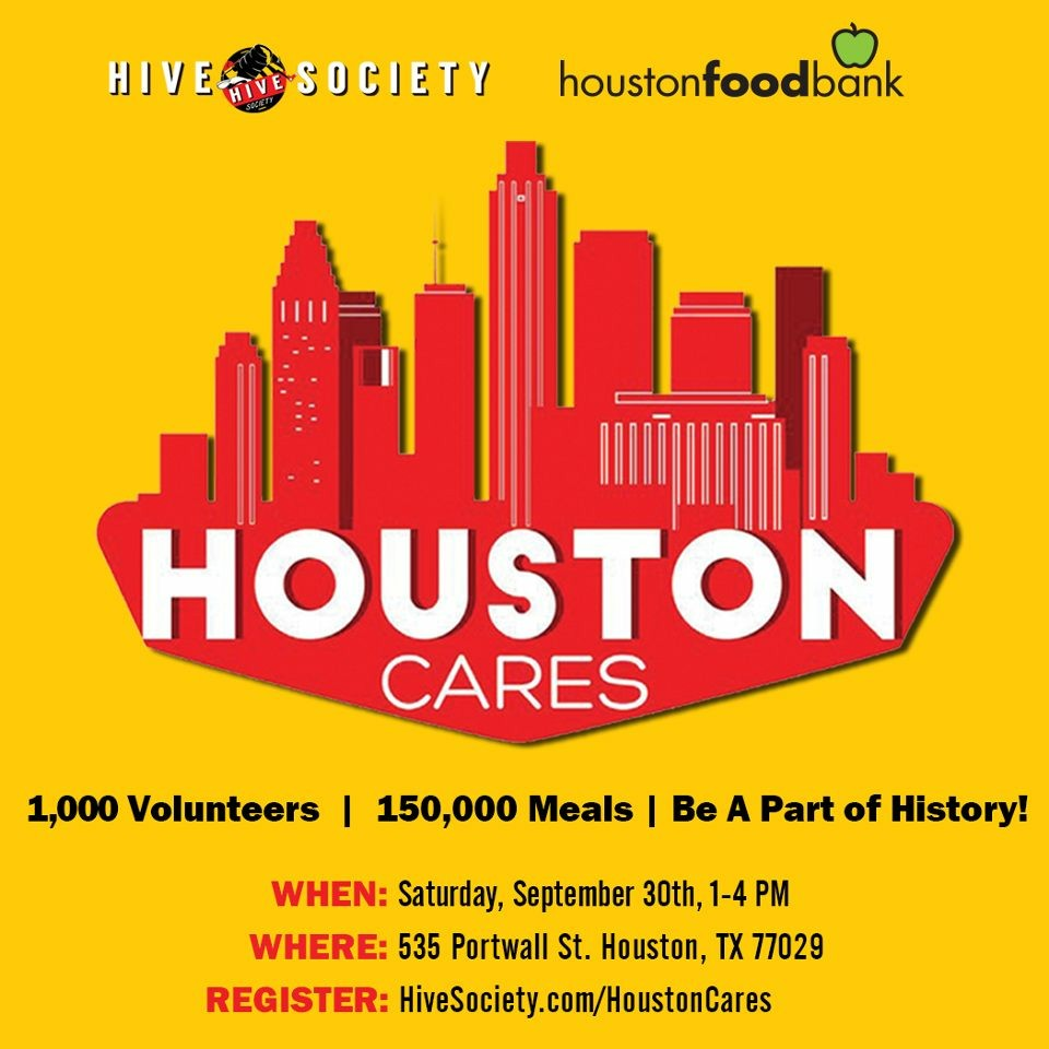 Houston Cares Flyer - Date September 30, 2017 from 1-4 PM