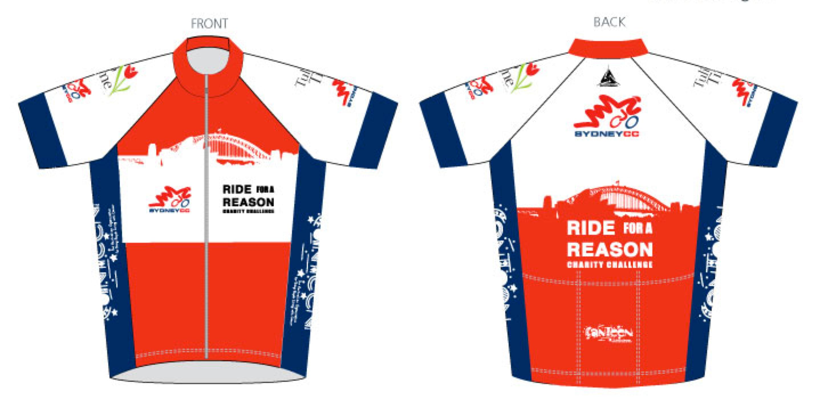 Ride for a Reason 2013 jersey design