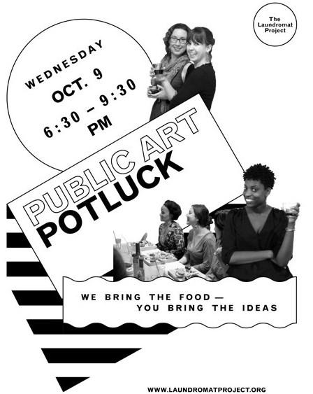 4th Annual Public Art Potluck Flier