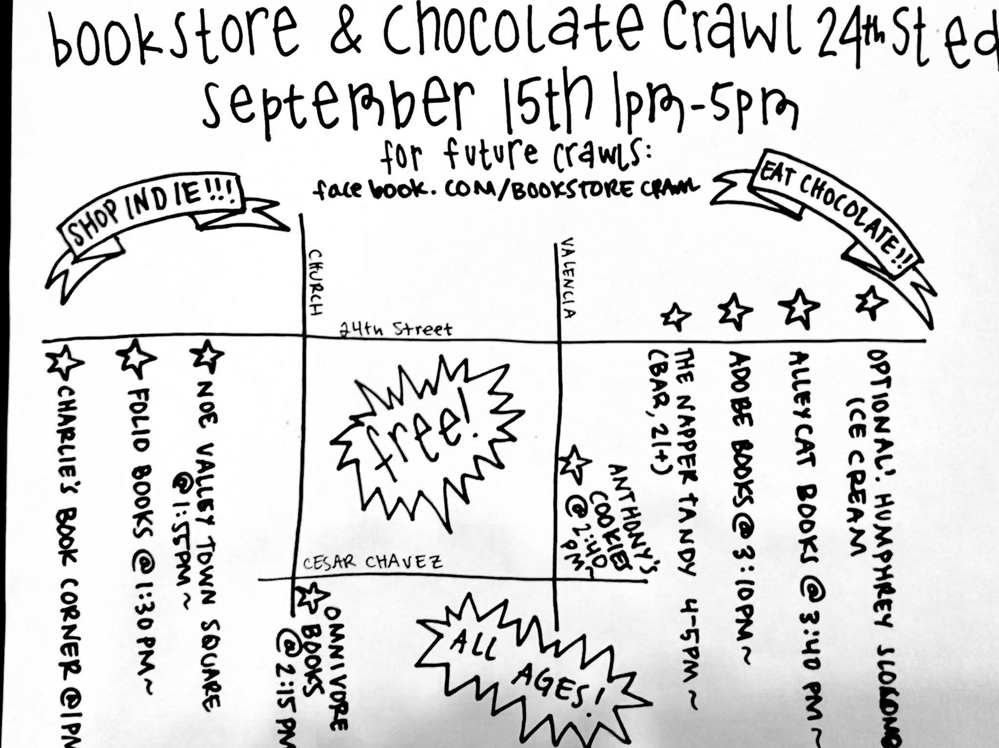 Bookstore&Chocolate Crawl Map 9.15.19
