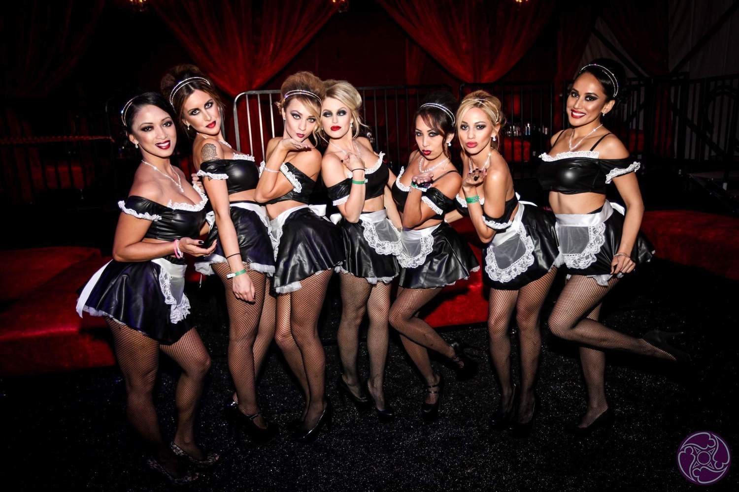 Group picture of the Maxim Magazine Halloween Party Hostesses
