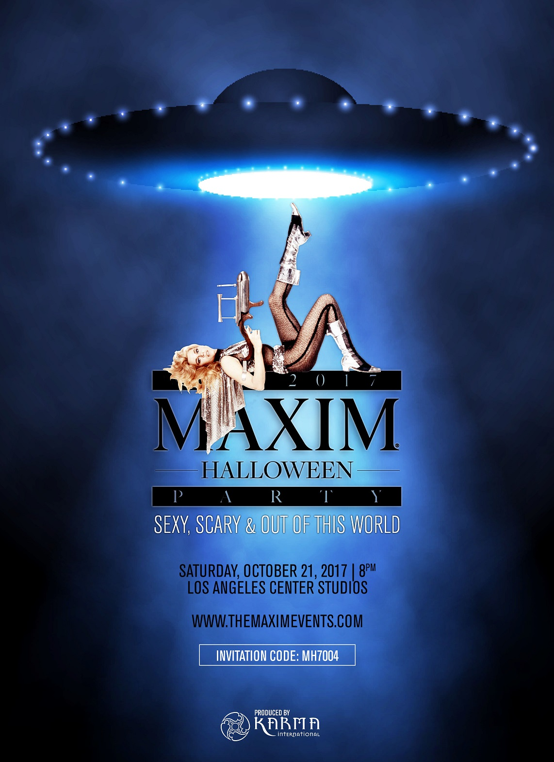 2017 Maxim Halloween Party Invitation Code: MH7004 VIP Exclusives is your Official VIP Host. For personal assistance with Tickets, Tables and VIP Services, call 1-877-MAXIM-02