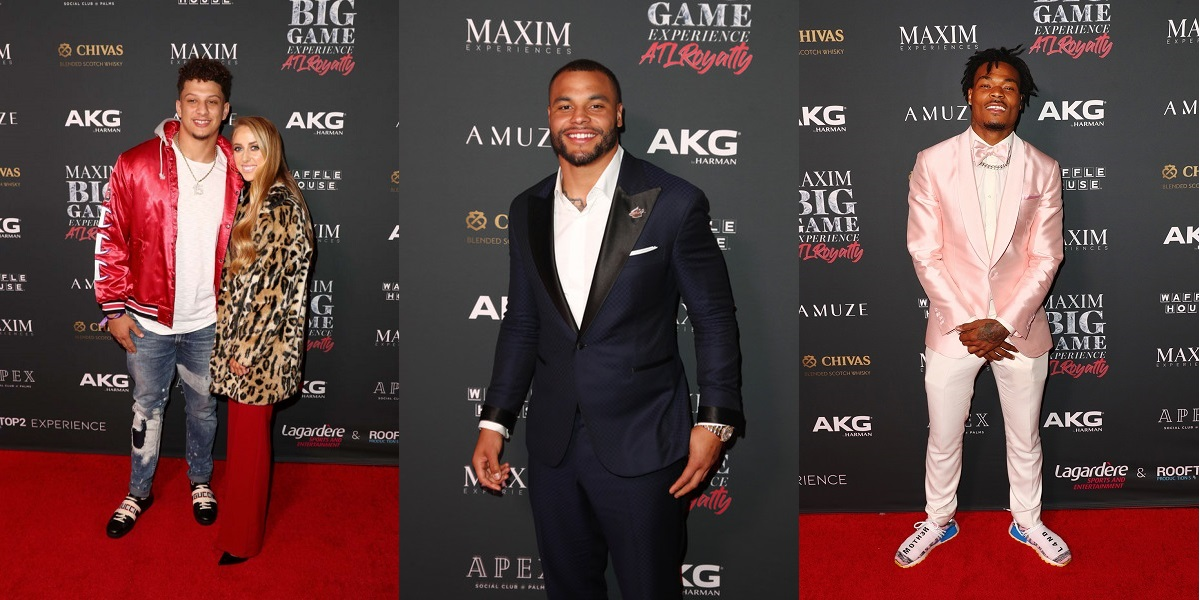 Maxim Havana Nights - 2020 Super Bowl Party Tickets - Call 1-877-MAXIM-02 for Official Tickets, Tables and VIP Services - Patrick Mahomes, Dak Prescott and Adrian Peterson were just a few of the NFL's Finest at the 2019 Maxim Super Bowl Party - VIPexclusives.com