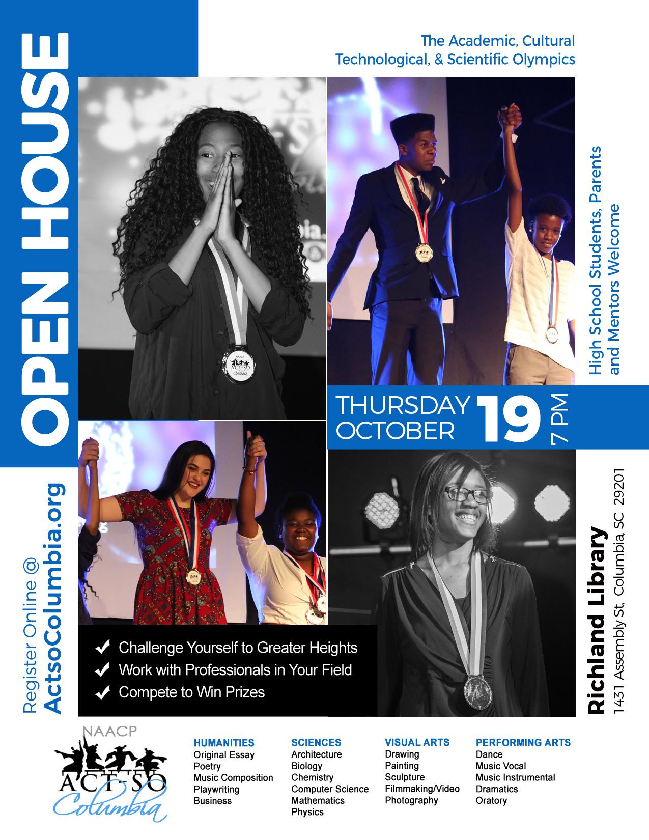 ACT-SO Open House Flyer