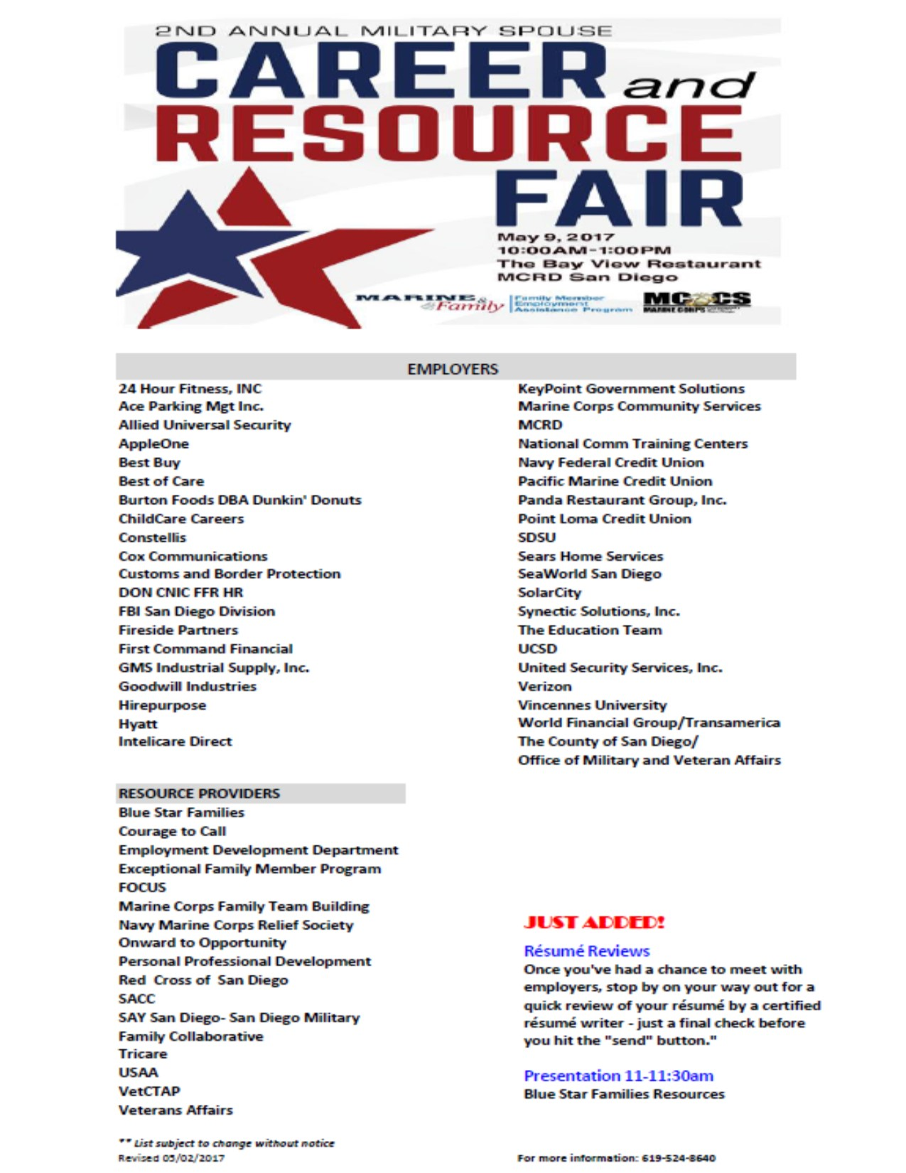 military spouse career resource fair tickets tue may 9 2017