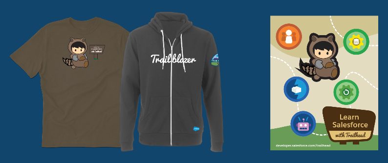 Salesforce user group and developer group trailhead for Salesforce free t shirt