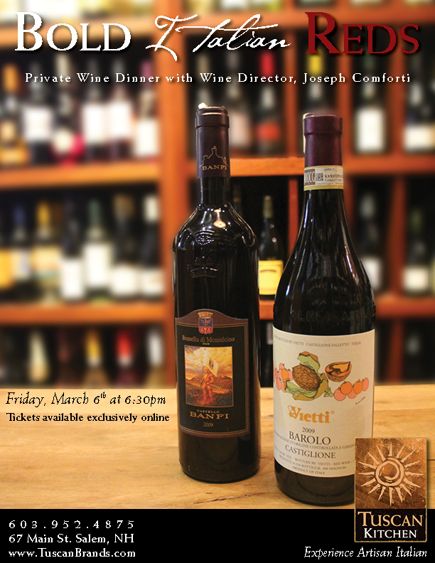 Bold Italian Reds A Private Wine Dinner With Joseph