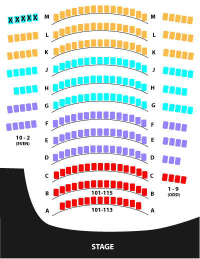Bill Cosford Seating Chart
