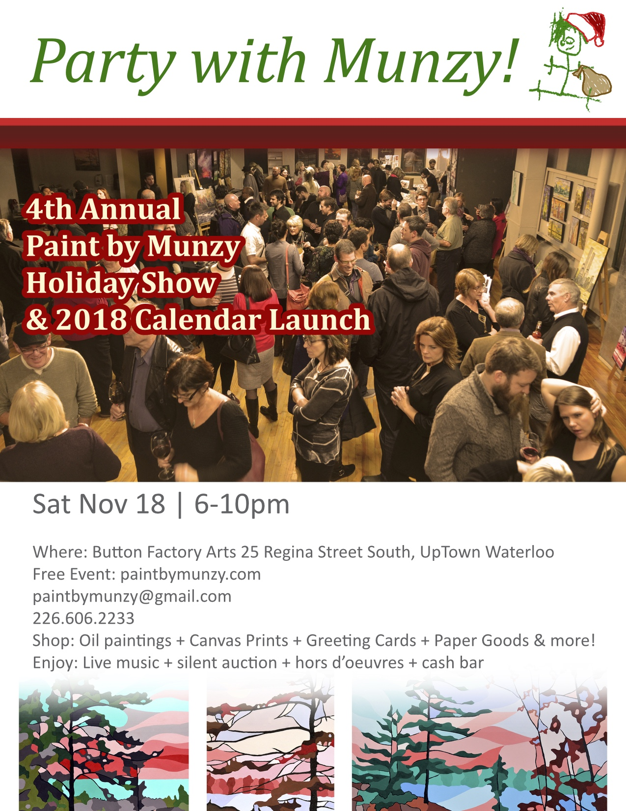 Art Show Calendar : Paint by munzy s th annual holiday art show