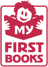 Cartoon Child Holding First Book