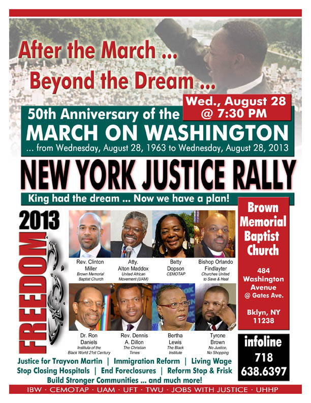 Justice Rally flyer