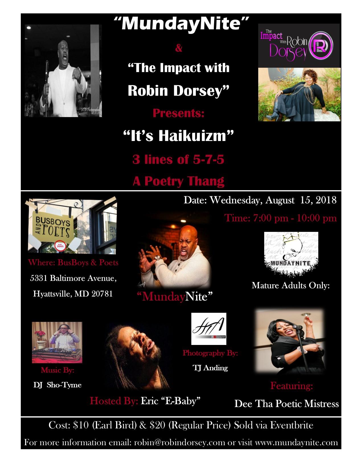 Haikuizm Event Flyer