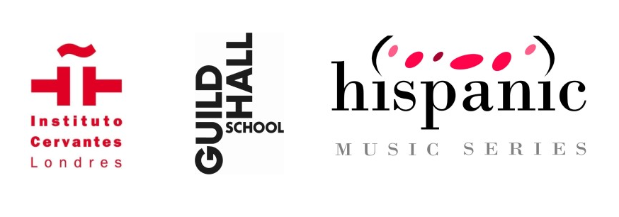 Logos for Hispanic Music Series, the Instituto Cervantes and the Guildhall School