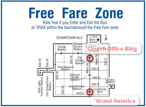 SLC Free fare Zone