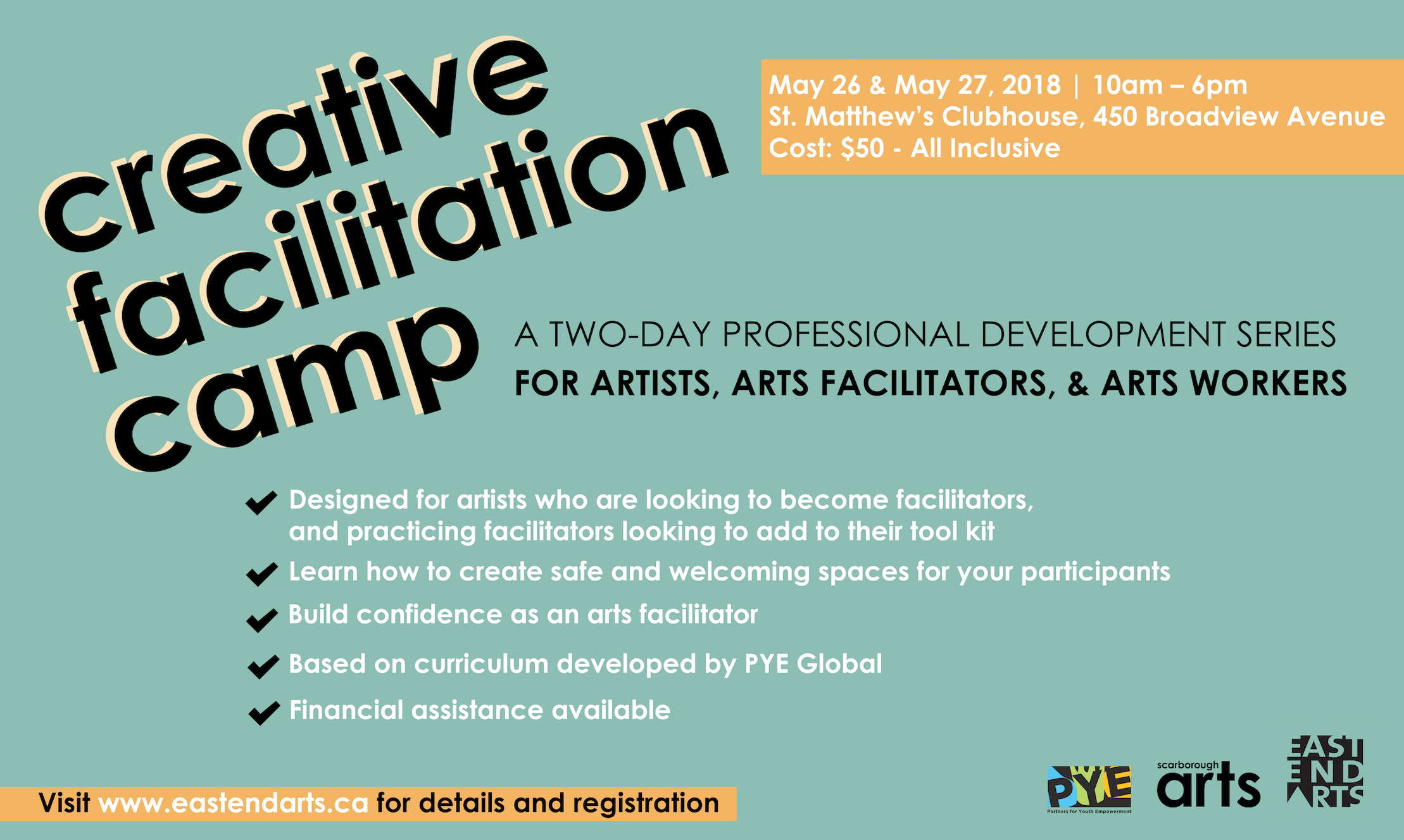 Register for Creative Facilitation Camp from May 26 - 27