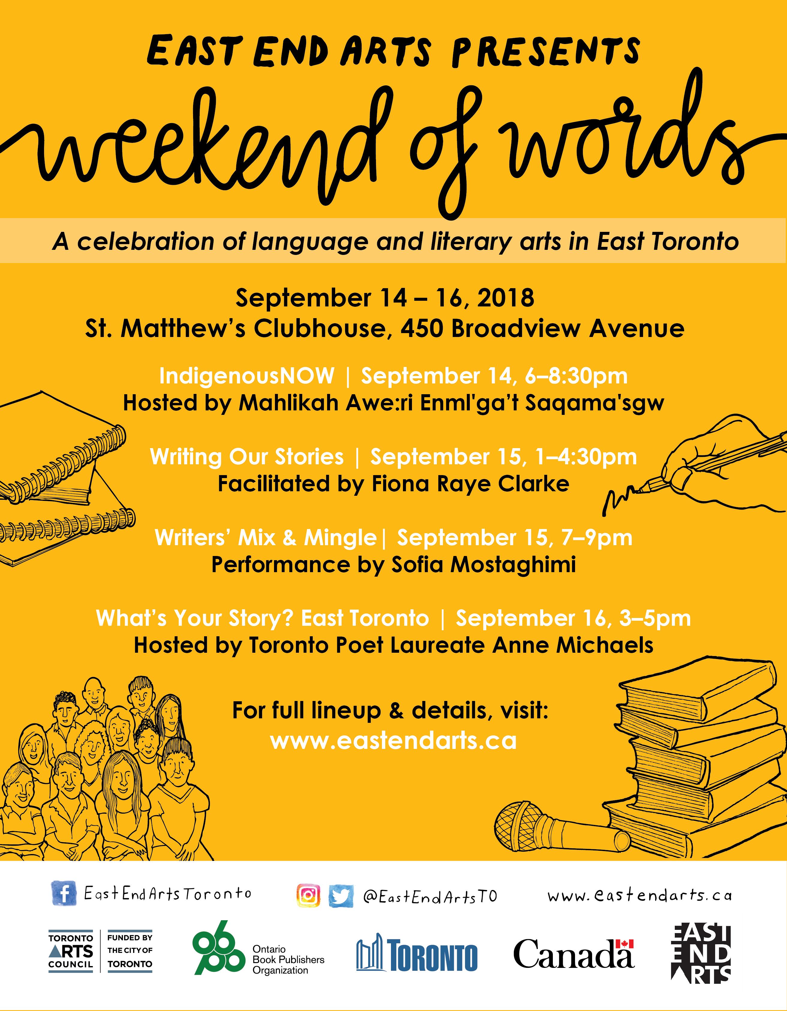 Weekend of Words 2018