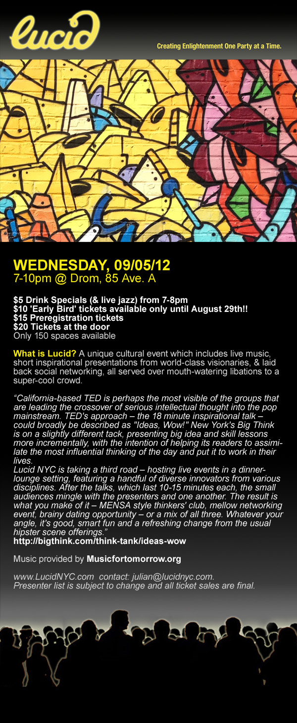 Lucid Event September 5th 2012