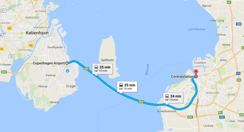 map copenhagen to malmo