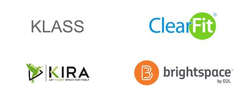 Klass, ClearFit, Kira, Desire2Learn