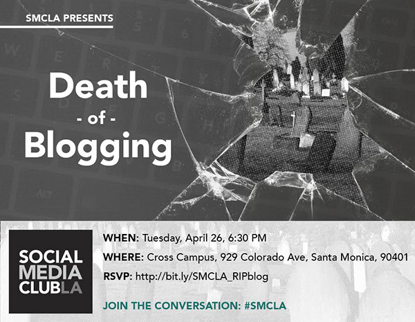 SMCLA present the Death of Blogging - April 2016