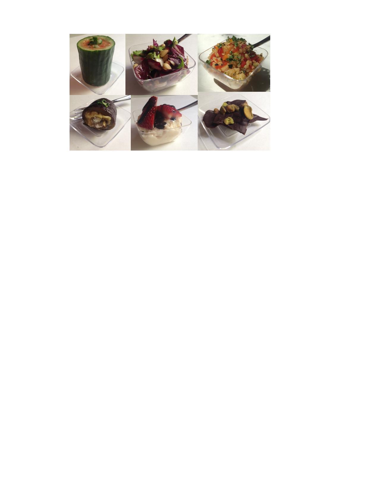 Food Tasting Collage