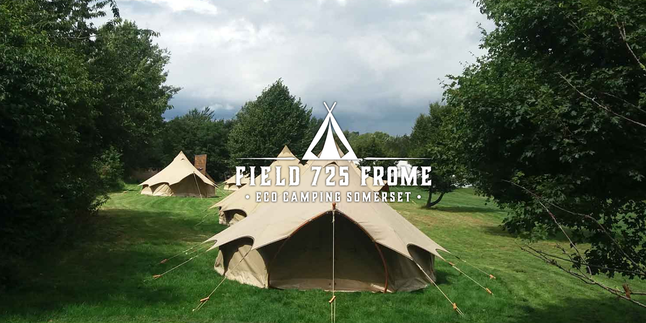 One of the bell tents in FIeld 725 in Somerset