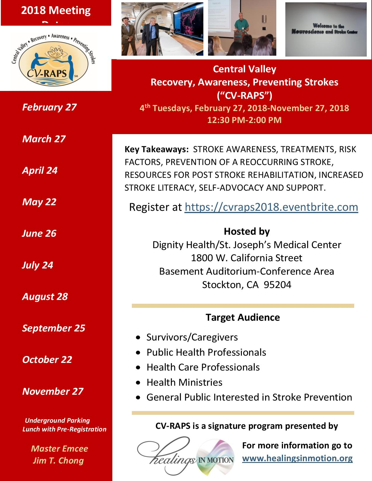 Central Valley Recovery Awareness Preventing Strokes Cv Raps