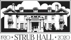 Strub Hall Anniversary Celebration Logo by Kenton Nelson