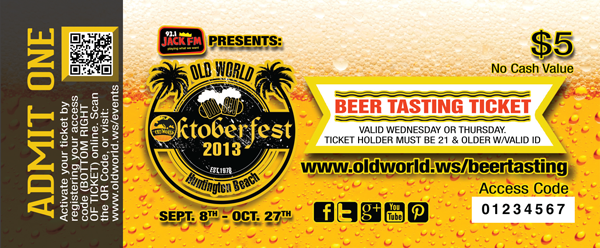 Old World Oktoberfest Beer Tasting Event