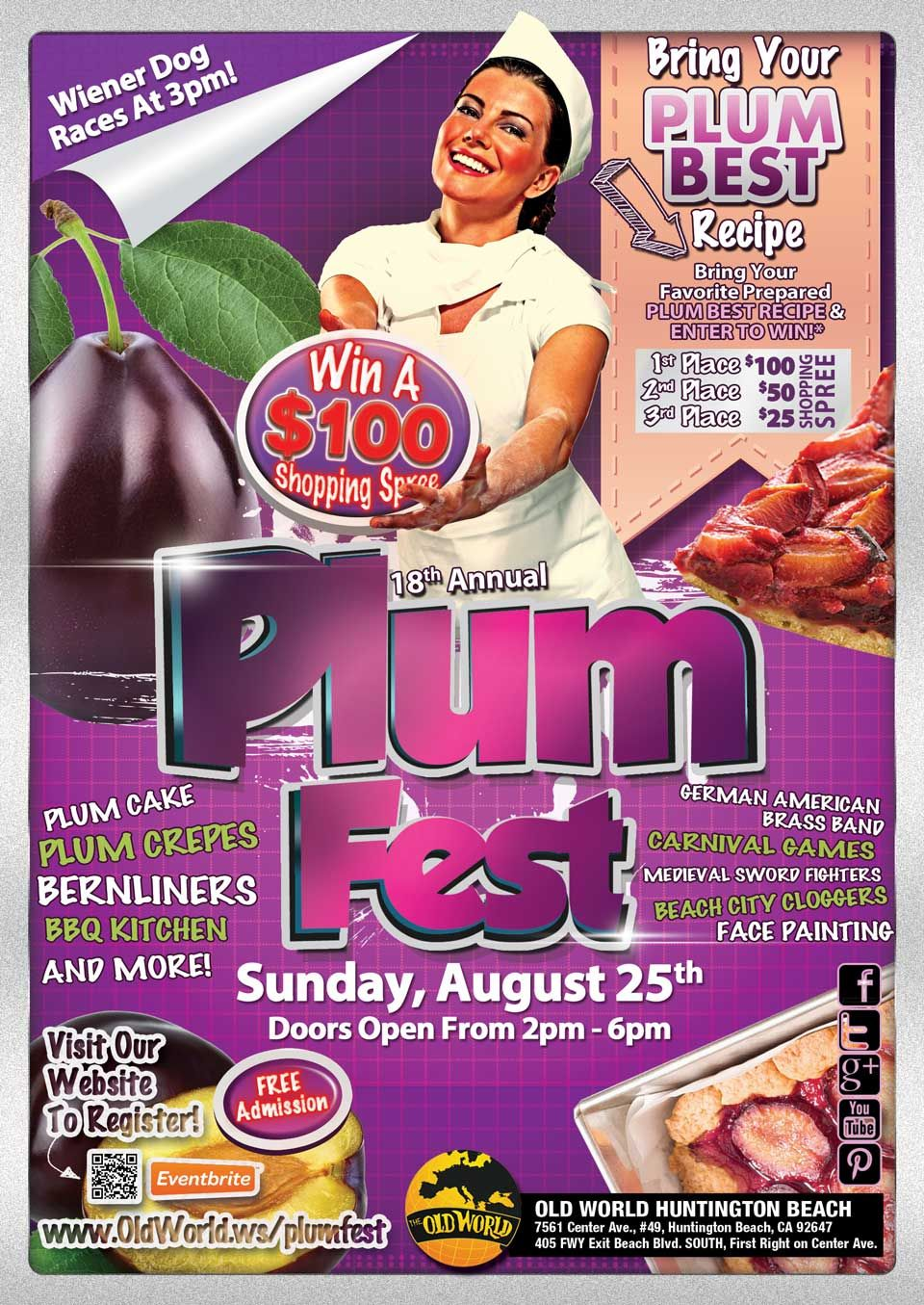 Plum Festival Old World Huntington Beach