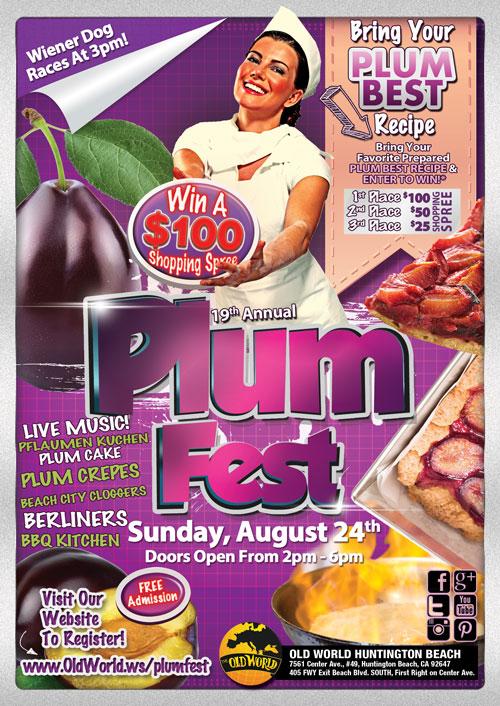 2014 Old World PlumFest Festival flyer