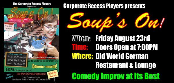 Comedy Improv Show at Old World German Restaurant